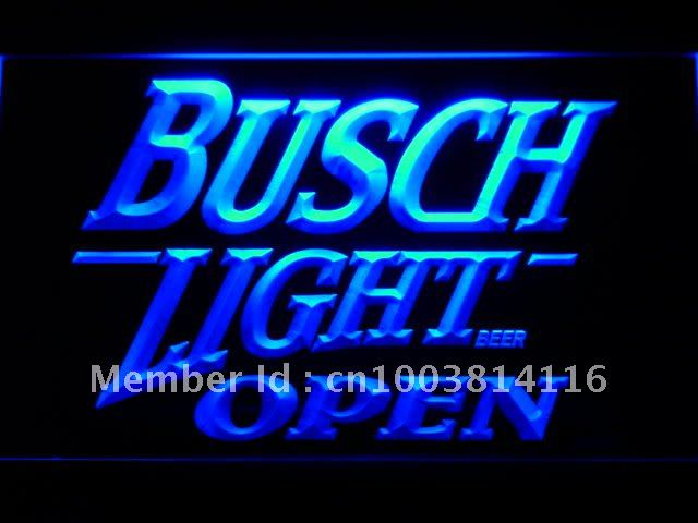 044 Busch Light Beer OPEN Bar LED Neon Light Signs with On