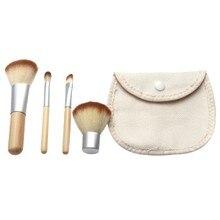 GRACEFUL 4pcs Cosmetic Makeup Brush Set Foundation Powder Eyeshadow Brush set With Bag maquiagem tools FREE SHIPPING SEPT6