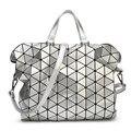 Famous Brand Women Diamond Lattice Briefcase Bao Bao Bag Lady Casual Plaid Shoulder Bags Straps Totes Top-handle OL Business Bag