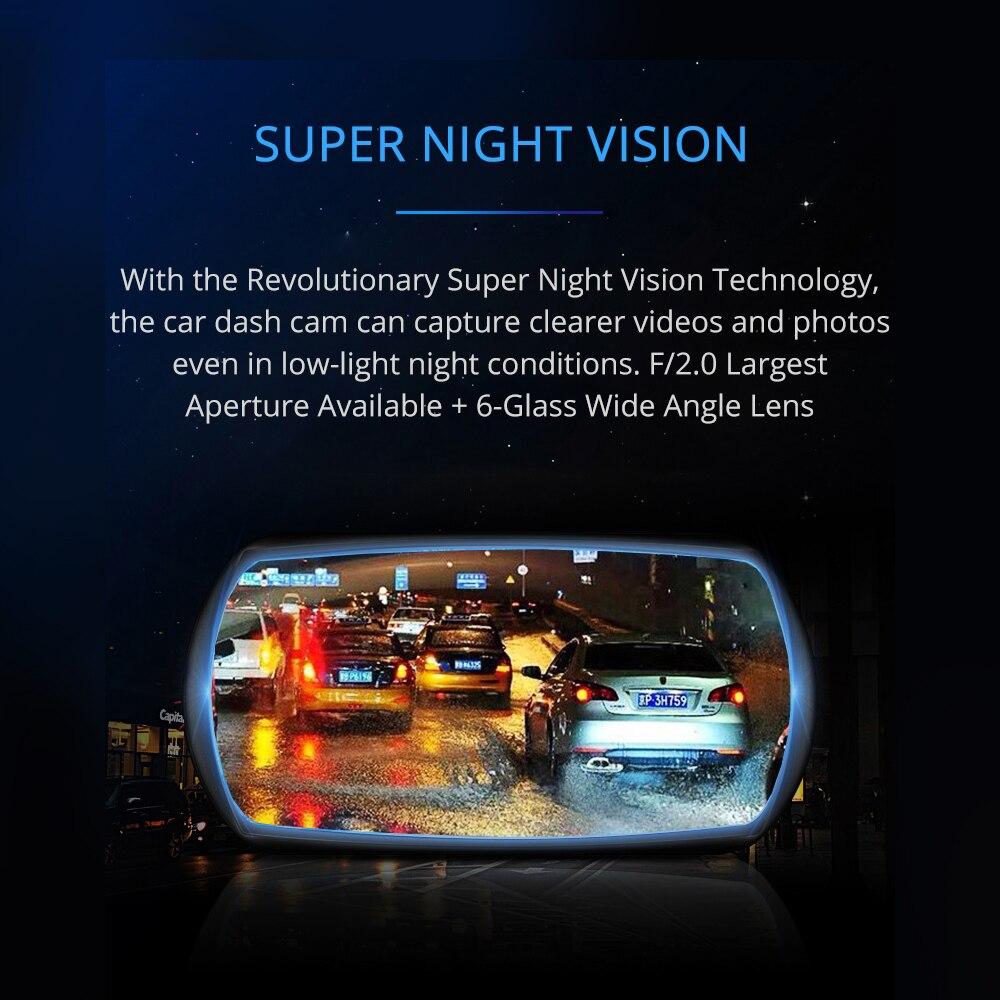 AZDOME M11 3 дюймов 2.5D ips Экран Dash Cam Видеорегистраторы для автомобилей Регистраторы HD 1080P Двойной объектив автомобиля видео камера приборной пан...