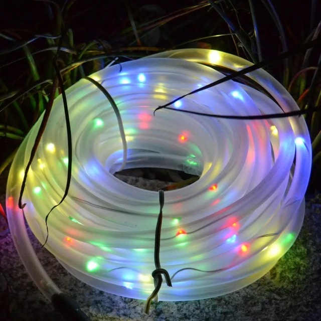 Solar Powered Outdoor Xmas Lights 10m solar powered rope tube flexible fairy string light 100led 10m solar powered rope tube flexible fairy string light 100led outdoor xmas garden christmas wedding party workwithnaturefo