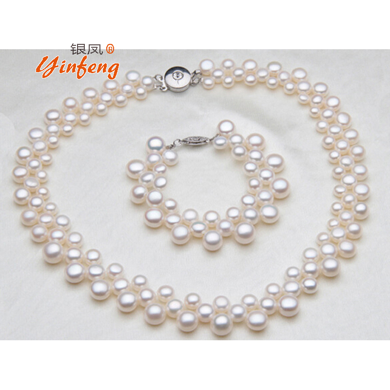 [MeiBaPJ] Luxury Baroque jewelry Fashion white button beads pearl necklace for women High quality birthday gift wedding jewelry
