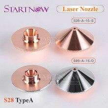 Dia.28mm H15 M11 Single/Double Layers Chrome-Plated Caliber 0.8-5.0 OEM Precitec Laser Nozzles For CNC Fiber Laser Cutting Head цена в Москве и Питере