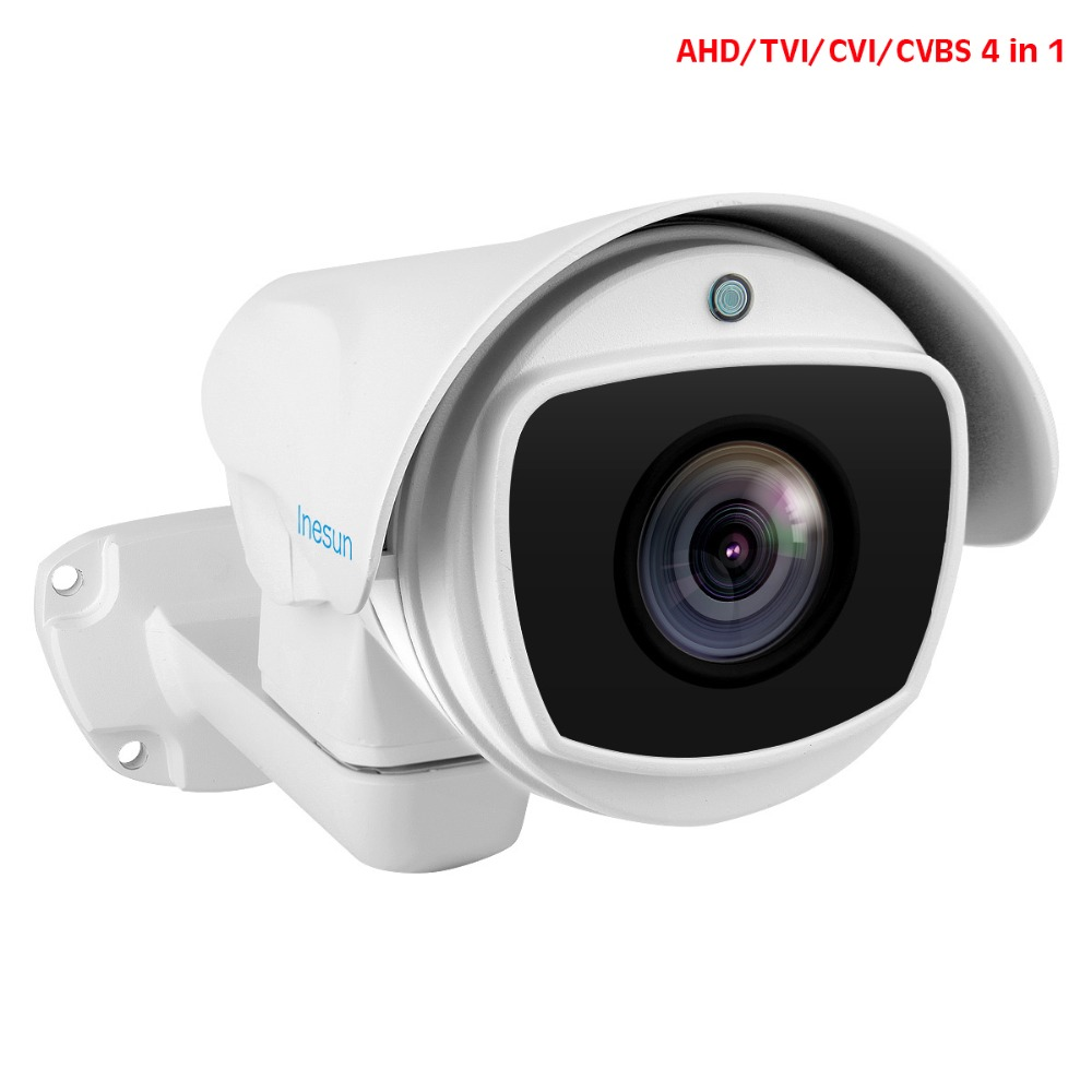 Inesun Outdoor PTZ Camera 2MP 1080P 10X Zoom 4-In-1 HD AHD/CVI/TVI/CVBS Video Surveillance Cam 330ft Laser IR Night Vision