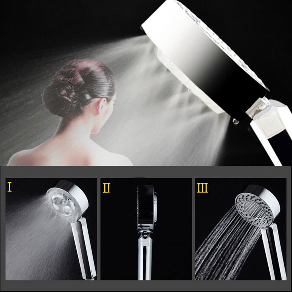 Magic High Pressure Hand Held Shower Head Bathroom Water Saving SPA Shower Head Pommeau De Douche With 3-Stage Spraying Water