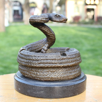 Snake Ashtray Ashtray Copper Bronze Statue Exquisite Crafts Business Gift Home Furnishing Decoration Decoration