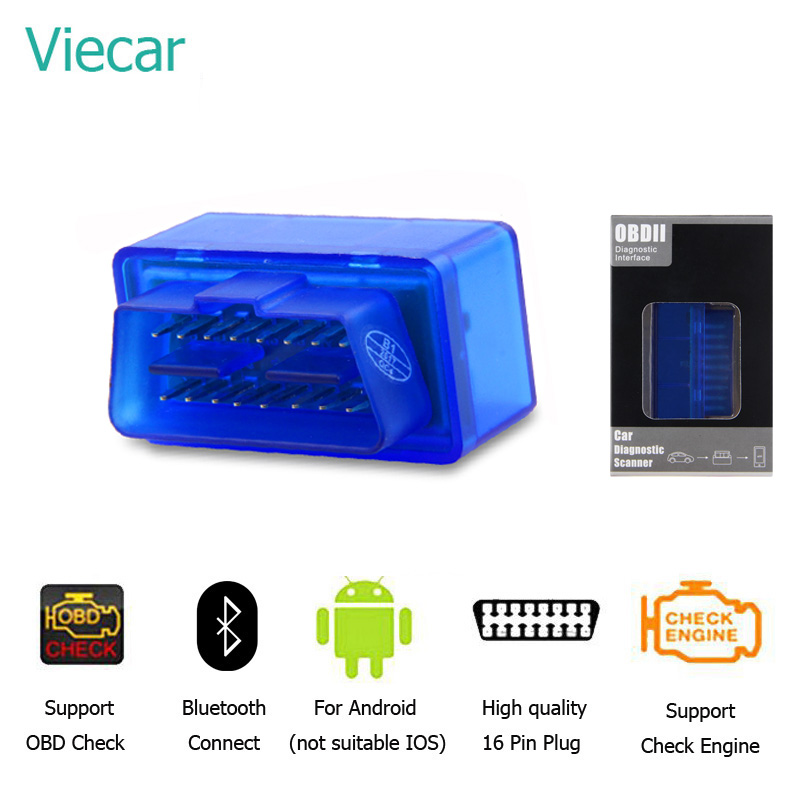 ELM327 1.5 OBD 2 Bluetooth Diagnostic Car Smart Scan Tool Mini Elm 327 V 1.5 OBD2 Auto Scanner Code Reader Just For Android high quality scan tool elm327 bluetooth mini obd2 obdii car auto diagnostic torque android