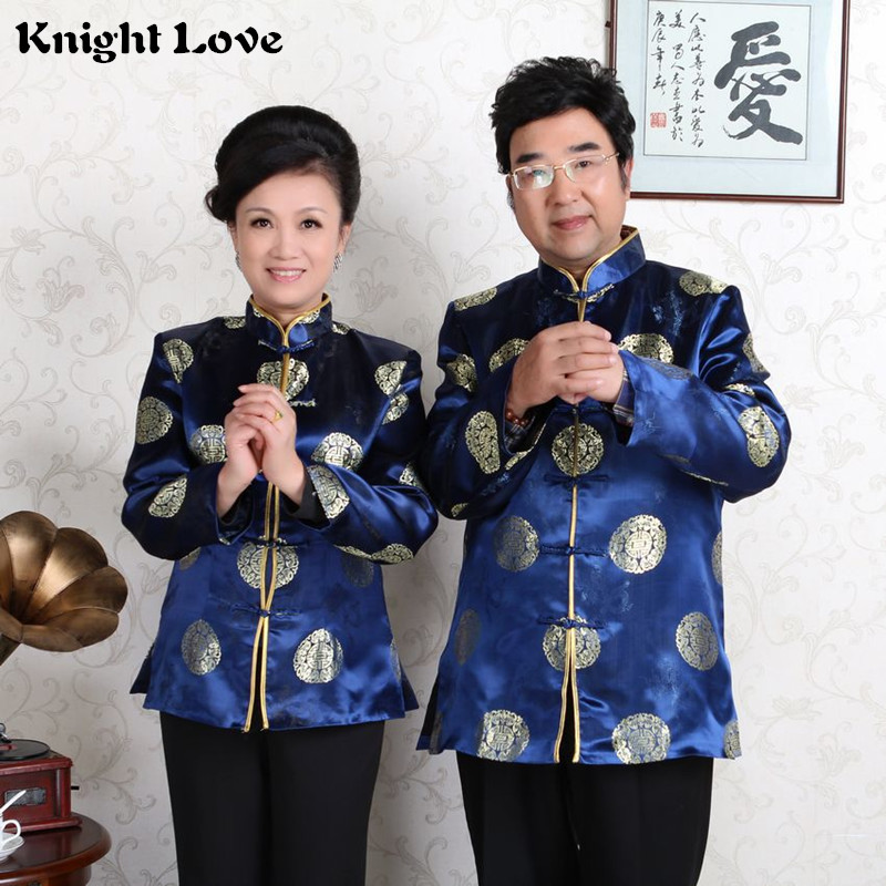 New Traditional Chinese Clothing Tops Tang Suit For Men Women Long Sleeve Hanfu Blouse Shirt Uniform