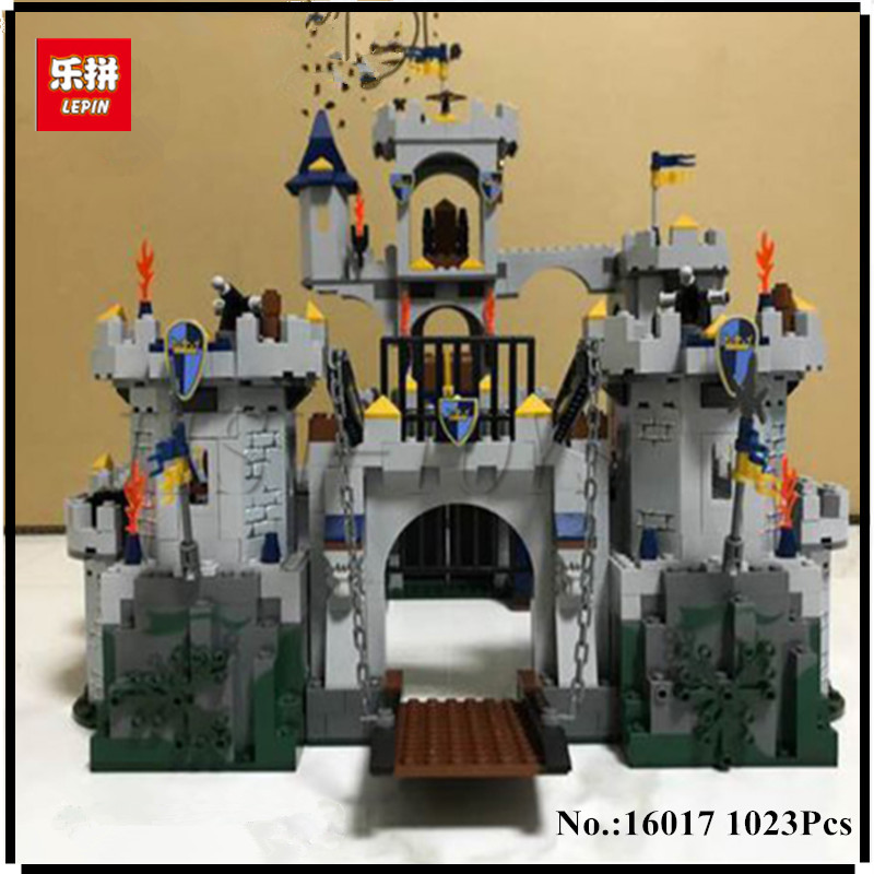 IN STOCK Lepin 16017 1023Pcs Castle Series The King`s Castle Siege Set Children Educational Building Blocks Bricks Toys Model lepin genuine 16017 castle series the king s castle siege set children building blocks bricks educational toys model gifts 7094