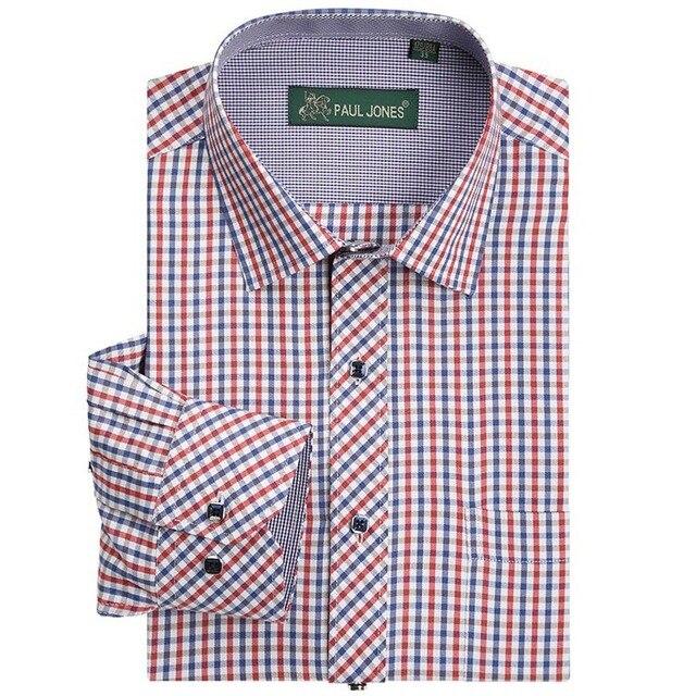 Высокое качество мужской классический клетчатую рубашку С Длинным рукавом платье рубашка мужчин Бизнес формальные рубашки Mens clothing camisa masculina