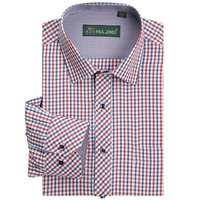 High Quality Men S Classic Plaid Shirt Long Sleeve Dress Shirt Men Business Formal Shirts Mens