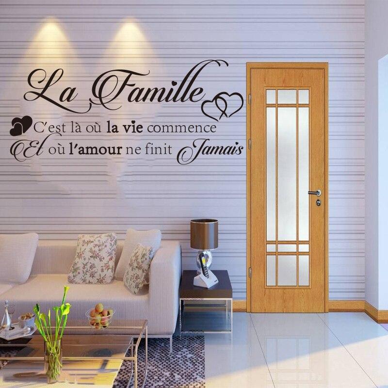 Vinyl αυτοκόλλητα τοίχου La-Famille - Διακόσμηση σπιτιού - Φωτογραφία 3