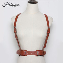 HATCYGGO Sexy Women Leather Harness Belts Adjustable Metal Buckle Waistband PU Straps Body Bondage Female Waist Belt