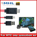 1080P MHL Micro USB To HDMI Adapter HDTV AV Cable for  HTC One X/XL/S M7 M8 HTC Sensation XE