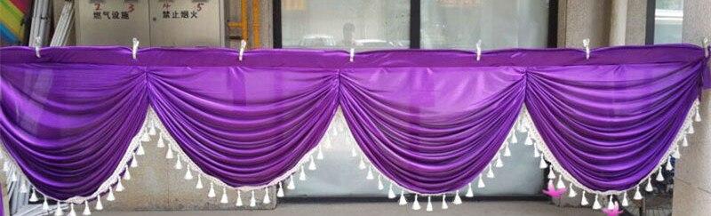 PURPLE ELEGANT WEDDING TABLE /& CHAIR DECORATION VALANCE SHEER SWAG FABRIC NEW