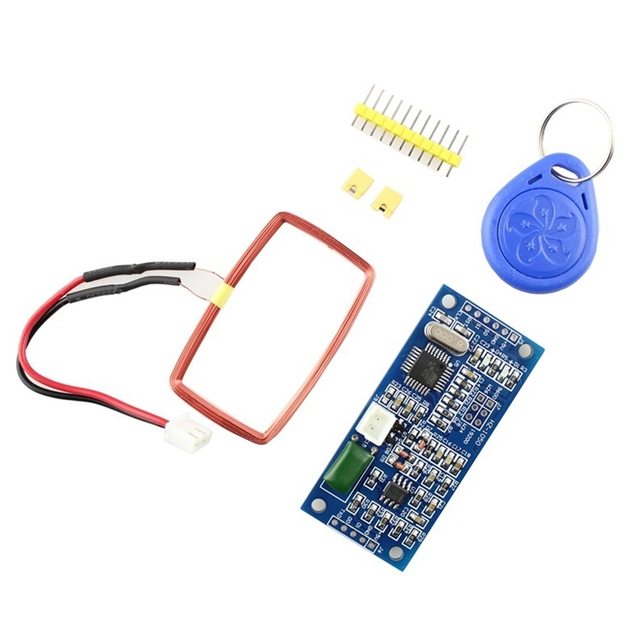 US $6 06 20% OFF|Elecrow RFID Reader Module for Arduino Control System DIY  Kit with ID Key Copper Coil UART Output Access Control System 1 Set-in