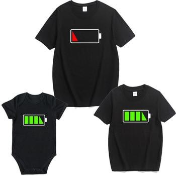 Κοντομάνικα Κοινά Μπλουζάκια για τον Μπαμπά-Μαμά-Παιδί-Μωρό Καλοκαιρινά Κοινά t-shirt για τον Πατέρα-Μητέρα-Κόρη-Γιος-Μωρό Κορμάκι Μωρού Κοινό με Μαμά