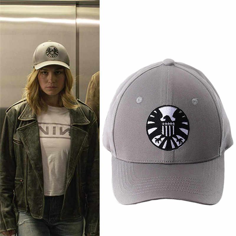قبعات الكابتن كارول دانفرز درع قبعة Basdball تأثيري حلي الدعائم للجنسين قابل للتعديل الهيب هوب قبعة الشمس