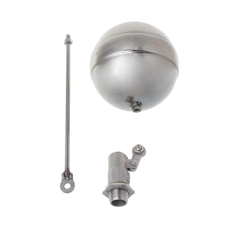 1 Pcs Dn15 Außengewinde Wasser Tank Ball Edelstahl Fluss Steuer Float Sensor Ventil Schnelle Farbe