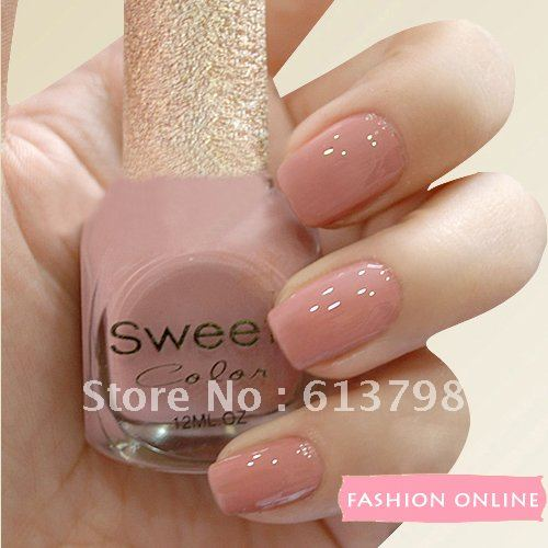 Charming Sweet Color Environmental Protection Nail Polish Pink Is Tender Classic  Paint Light Bare Color OL Big Photo Gallery