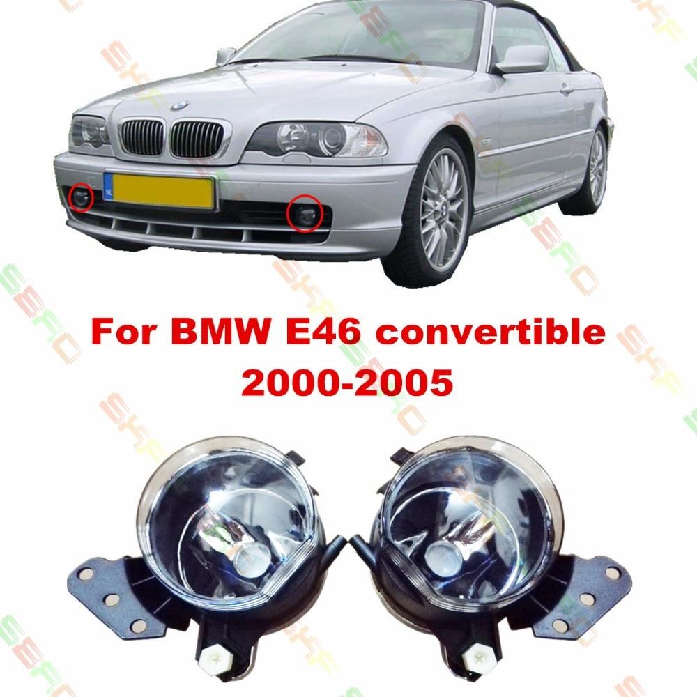 Car styling Fog Lamps  For BMW E46 convertible 2000/01/02/03/04/05  12 V   1 SET FOG LIGHTS