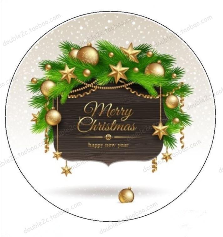 Wesołych świąt jadalny papier do dekoracja na wierzch tortu, wafel jadalny papier transferowy, Happy Christmas Party jadalne ciasto dekorowanie