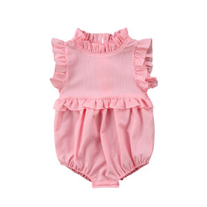 Newborn Baby Girl Ruffle Romper Jumpsuit Chiffon Summer Baby Rompers Sleeveless baygown Playsuit Clothes Outfit(China)