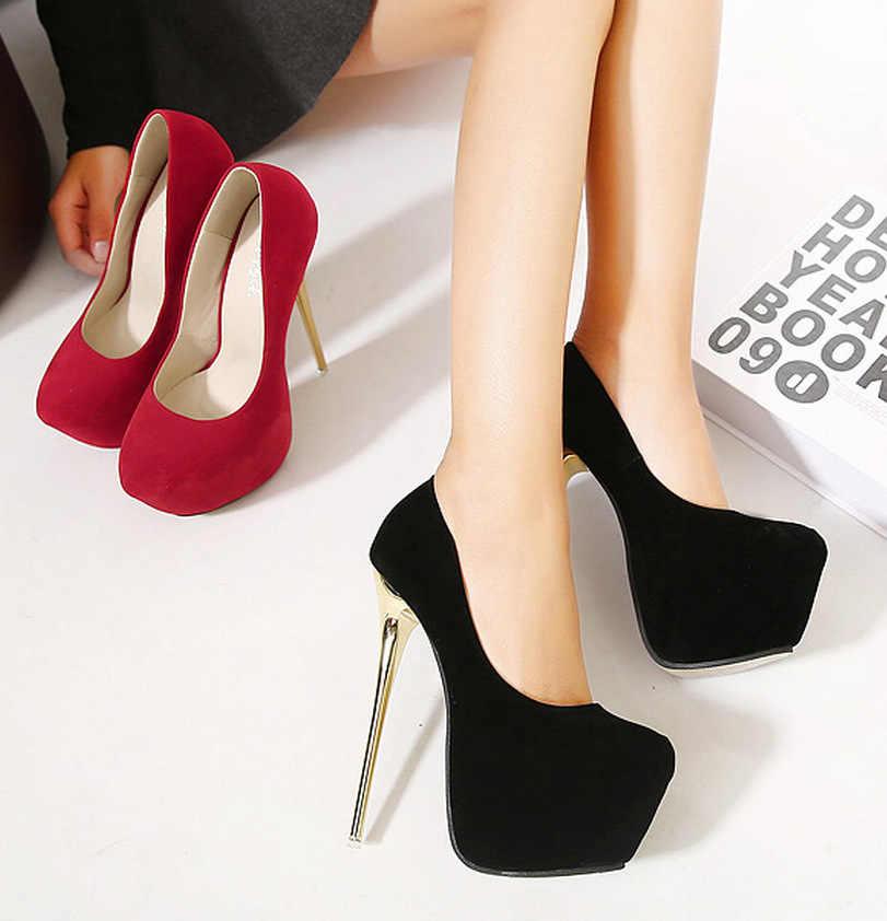 LTARTA 2019 Yeni kadın ayakkabısı Avrupa Tarzı Özel Bölüm 16 CM yüksek topuklu Pürüzsüz tek ayakkabı Süper Seksi CWF-my258-15