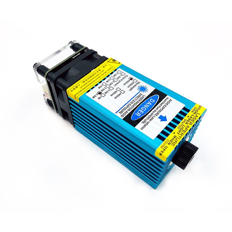 500 выходная мощность 15 Вт Фокусируемый синий лазерный модуль 12V 33/40 мм станок для лазерной резки и лазерной гравировки ttl PWM для станка с ЧПУ ...