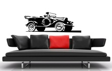 Car wall stickers vinyl decals retro old racing car, garage wall decoration stickers, home living room decoration QC28 vinyl wall stickers formula one racing sports car enthusiasts youth room shool dormitory home decoration wall decal 2ce15