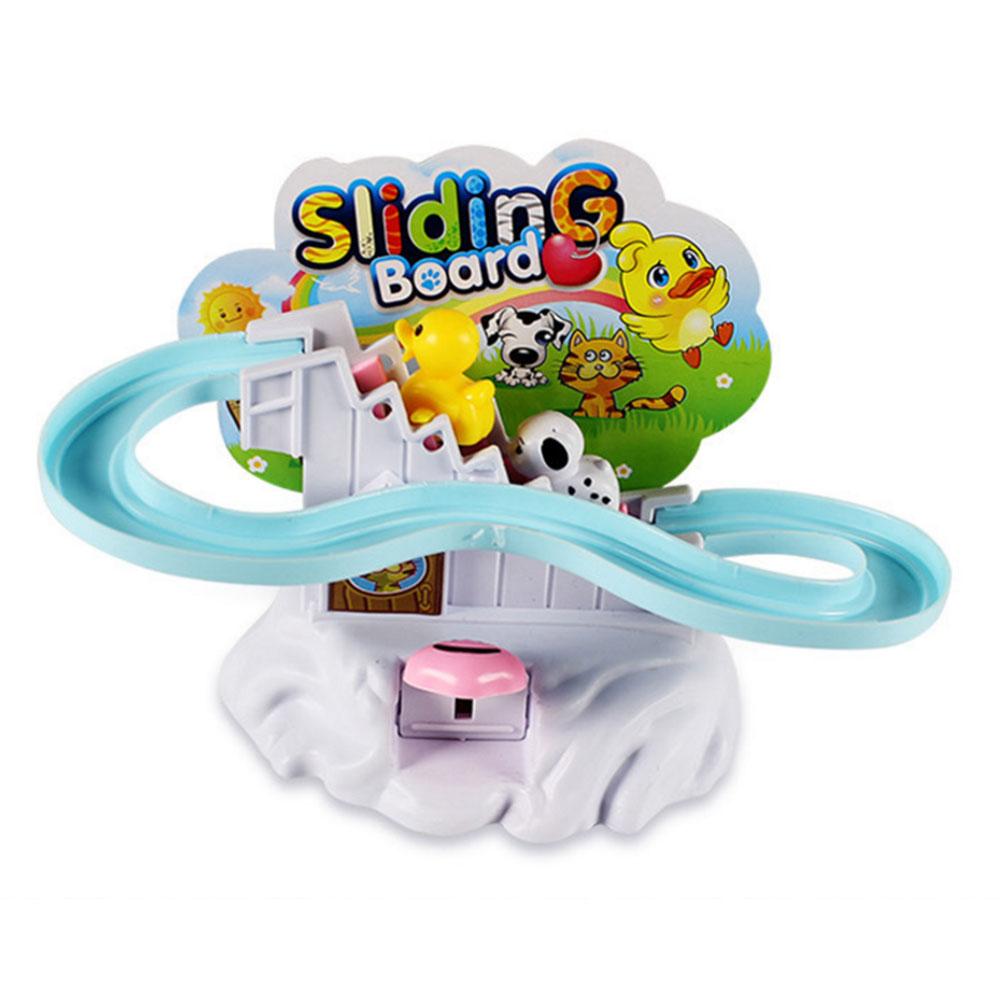 Baby Kids Cartoon Animal Type Climb Stairs Rotary Slide Track Assembly Educational Toy For Baby Gift