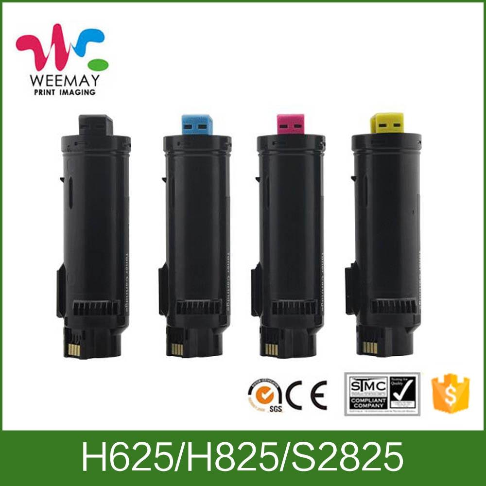 1 set toner cartridge compatible toner for DELL H825 H625 S2825 two sets compatible high quality oem 330 5846 330 5852 toner cartridge chip for dell c5130cdn printer