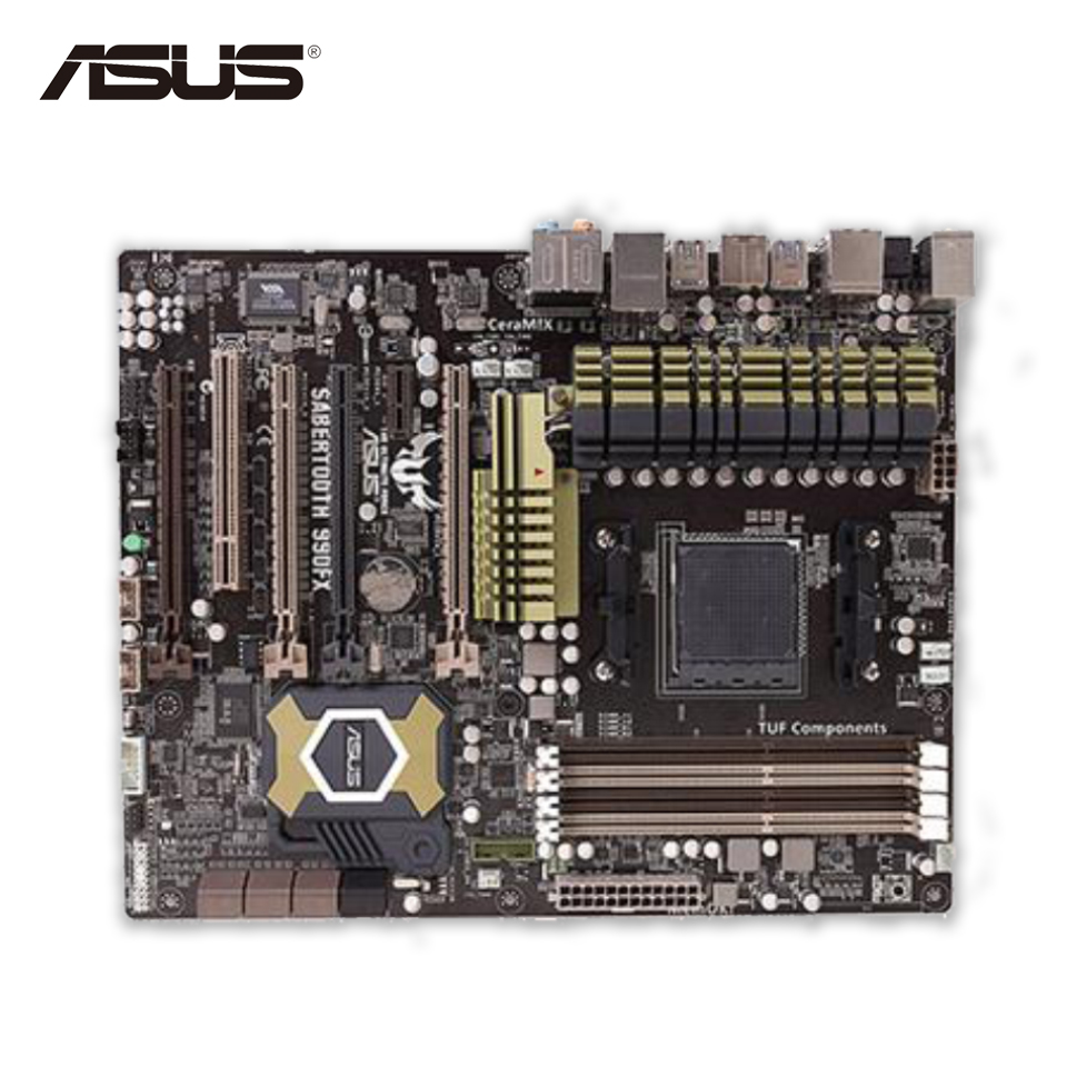 Asus SABERTOOTH 990FX Desktop Motherboard 990FX Socket AM3+ DDR3 SATA3 USB2.0 ATX asus crosshair iv extreme desktop motherboard 890fx socket am3 ddr3 sata3 usb3 0 atx