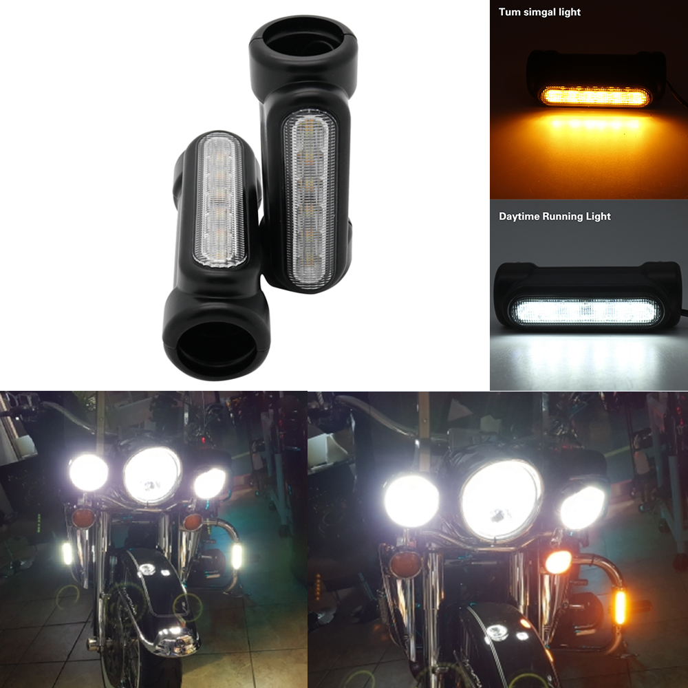 Black Chrome Universal Motorcycle Highway Bar Switchback