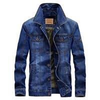 New Brand Retro Denim Jacket Men Spring Autumn Turn Down Collar Cowboy Bomber Jacket Classic Outwear Jean Coats Plus Size 6XL