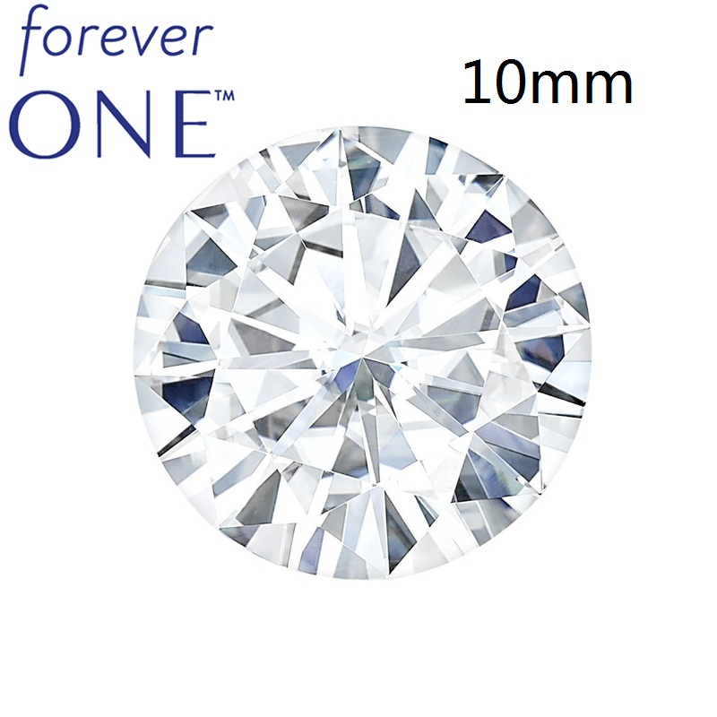 Certified Charles Colvard Colorless 3.6 CT VVS VS D Color Forever One Round Brilliant Cut White Moissanite Loose Diamond Stone