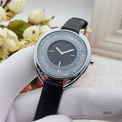 The new contracted fashion quartz watch female swans belt Leather Clock Women Dress Cartoon Wristwatch Hot concept of vortex female student individuality creative watch han edition contracted fashion female table