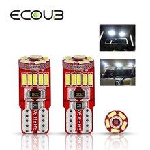 T10 W5W 194 Branco Canbus Erro Free Car LED Bulb DRL Light Reading Interior Porta Licença Auto Lâmpada Tronco 4014 SMD Não polari 12 v