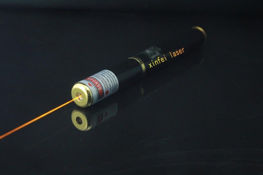 JSHFEI 5mw 589nm Recharged yellow laser pointer yellow laser pen WHOLESA LAZER pen