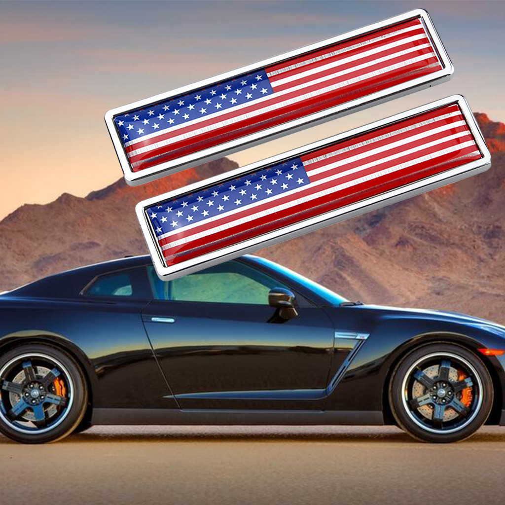Russia United States Portugal Canada Italy Australia United Kingdom Spain National Flag Emblem DIY Metal Car Sticker Car Styling