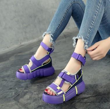 Summer Casual High Heels Platform Chunky Sandals For Women