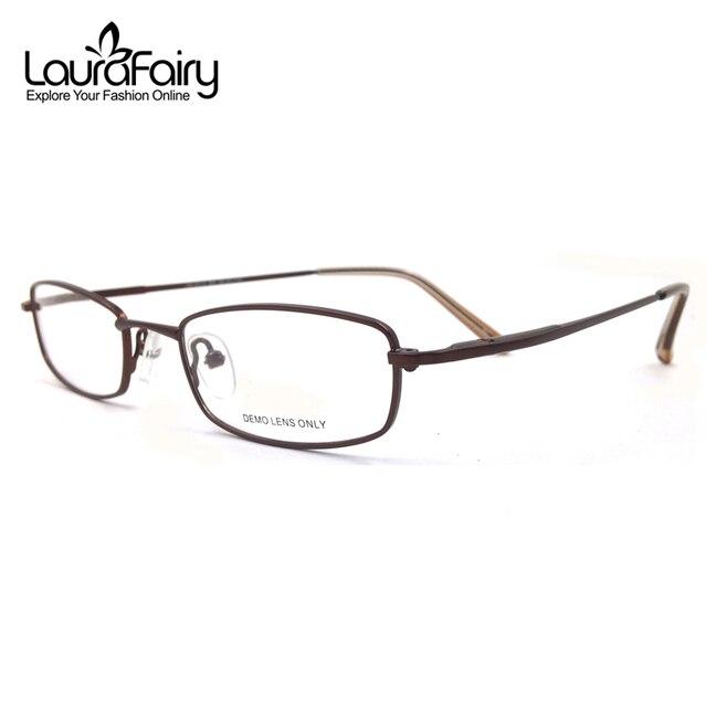 53a38b77112a3 Laura Fadas Design Clássico Homens Óculos Óculos Moldura Flexível Templo  Retângulo Aro Completo Óculos de Armação