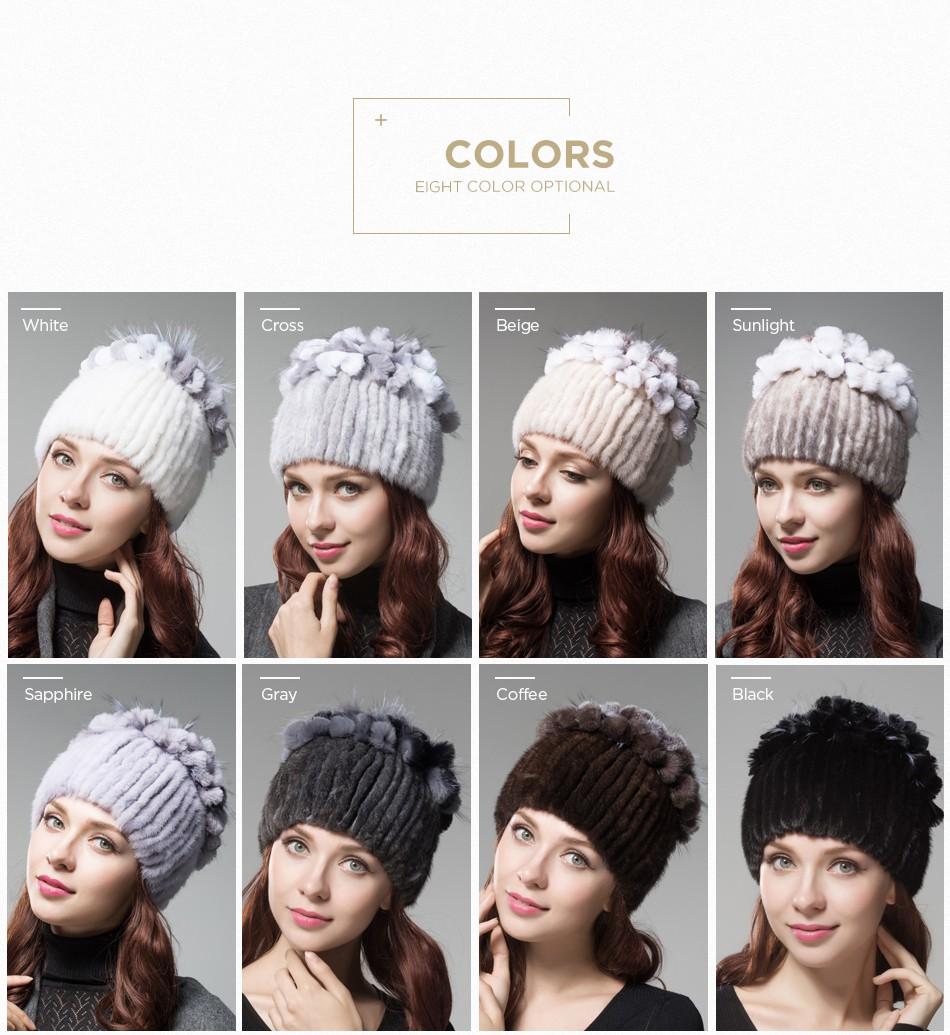 mink fur hats female winter PCM016 (4)