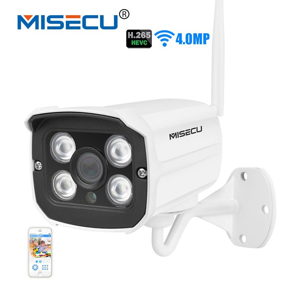 MISECU 4.0MP Wifi 2.0MP H.265/H.264 Caméra IP Sans Fil Onvif 2560*1440 P P2P Wi-fi Surveillance push e-mail nuit IR Étanche