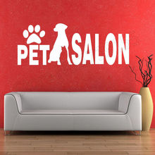 grooming shop pet stickers mural for window wall salon decorative art vinyl Beauty dog decal ZW25
