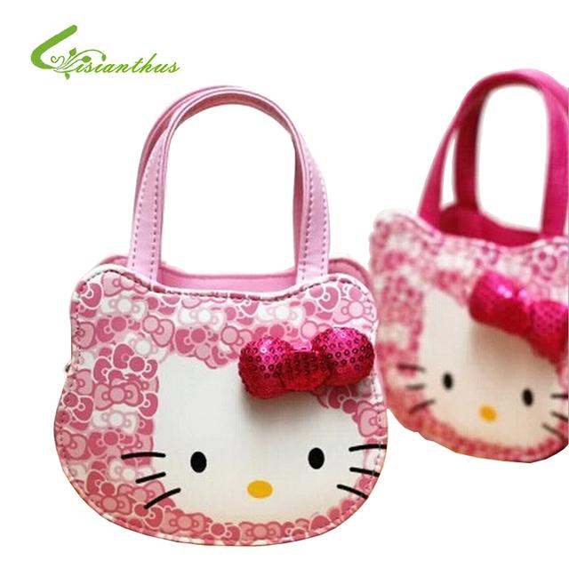 Olá kitty Bolsas SweetLovely Bonito Bolsas Meninas Totes Crianças Bolsa Arco-nó Moda de Alta Qualidade Doce Transporte Da Gota Livre