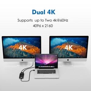 Image 3 - محول Thunderbolt 3 ثنائي محول عرض HDMI فاصل نوع C usb C hub 40Gbps 4K منفذ عرض HDMI 1080P موزع تقسيم الفيديو