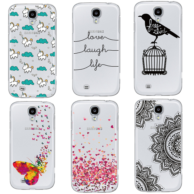 Ultra Thin Slim Transparent Mandala Horse Butterfly Love Words Design Phone Case For Samsung Galaxy S