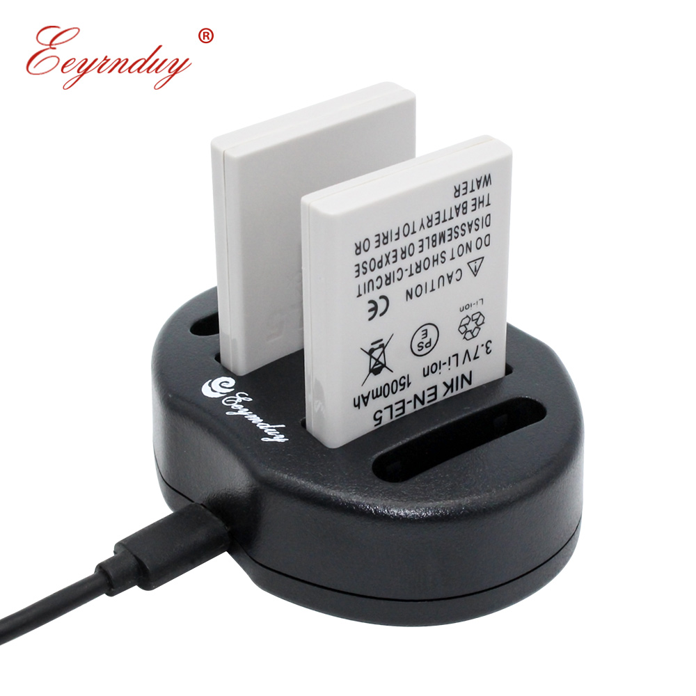 2pcs battery USB Dual charger EN EL5 ENEL5 For Nikon For Coolpix P80 P90 P100 P500 P510 P520 in Digital Batteries from Consumer Electronics