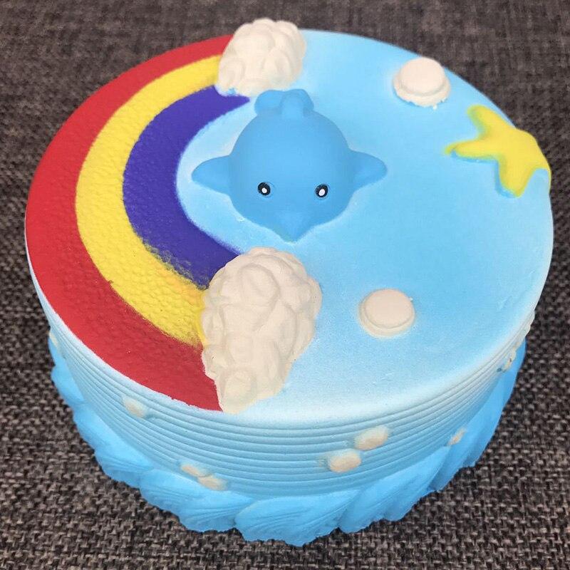 12.5CM Blue Ocean Whale Millie Cake Squishy Kawaii Super Slow Rising Bread Bun Toy Cute Kids Colorful Gift Fun Phone Straps